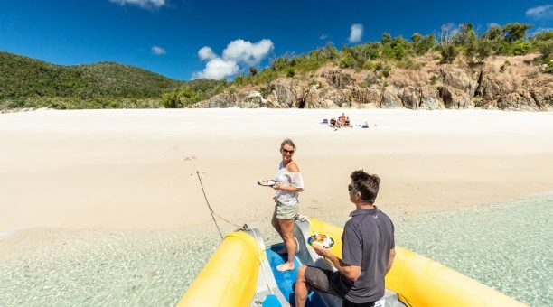 Step straight off the boat onto Whitehaven Beach