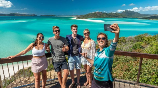 Take that perfect selfie at Hill Inlet lookout